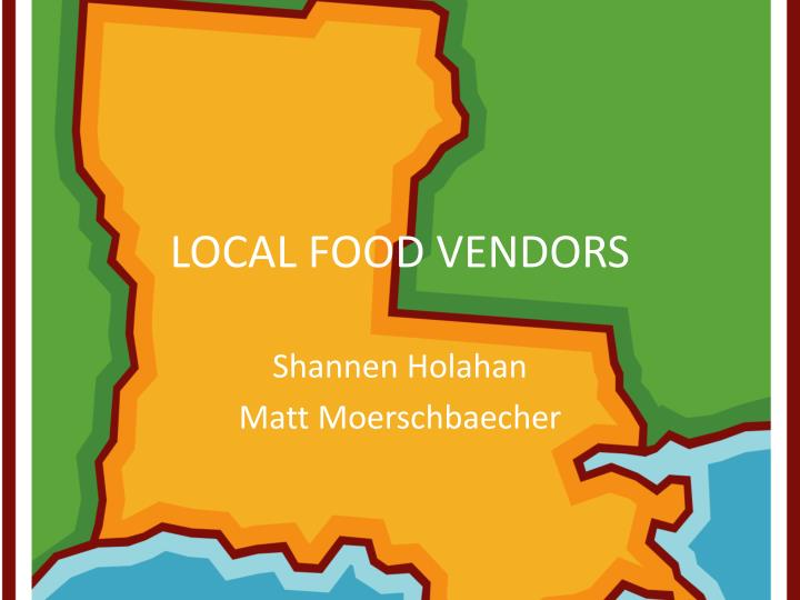 local food vendors n.