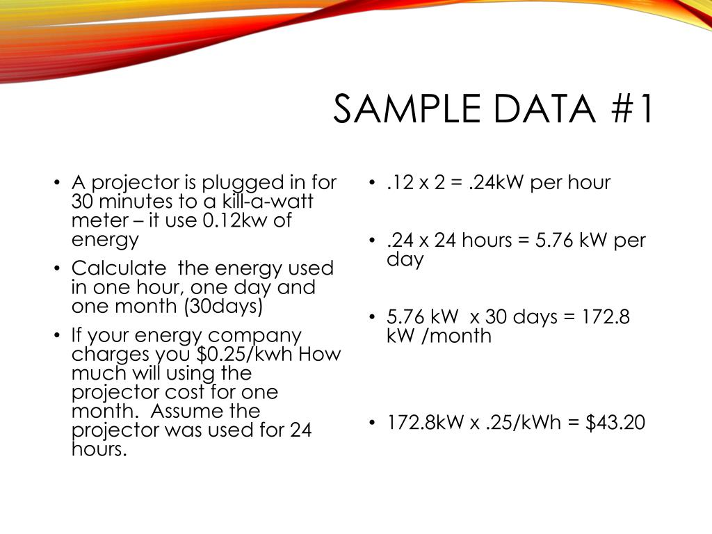 PPT - Energy Unit: Calculating and Metering Energy