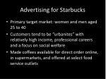 advertising for starbucks