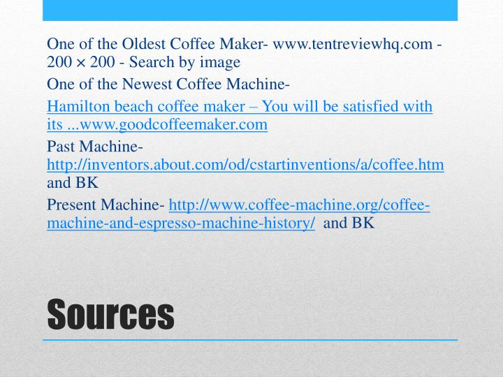 One of the Oldest Coffee Maker-