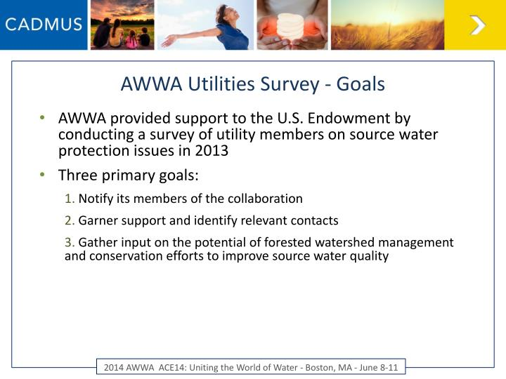 AWWA Utilities Survey - Goals