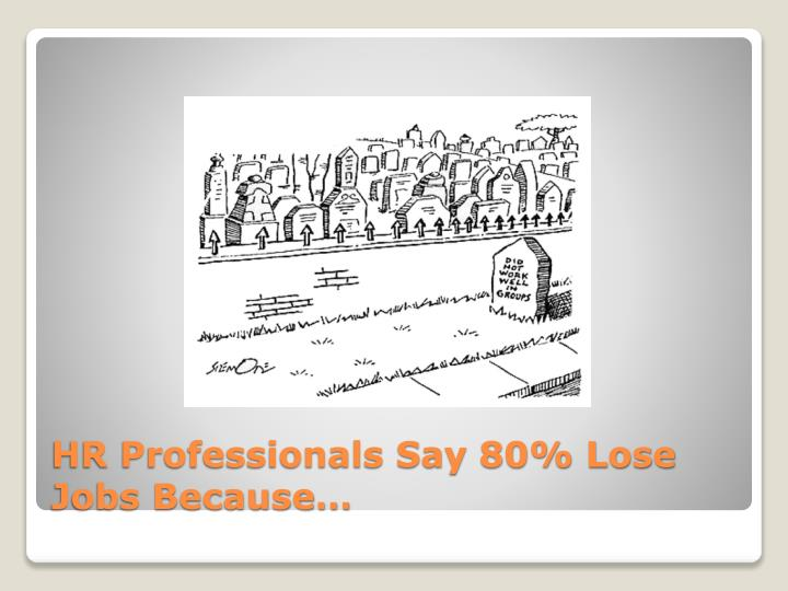 HR Professionals Say 80% Lose Jobs Because…