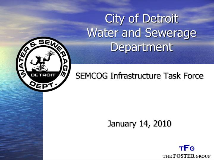 city of detroit water and sewerage department n.