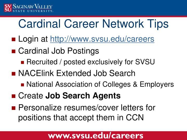 Cardinal Career Network Tips