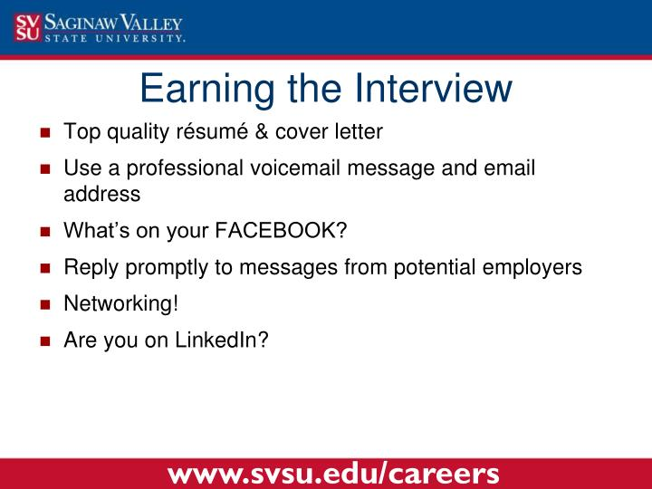 Earning the Interview