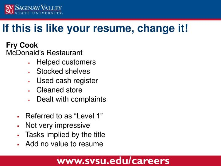 If this is like your resume,