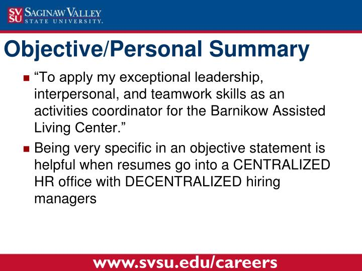 """""""To apply my exceptional leadership, interpersonal, and teamwork skills as an activities coordinator for the"""