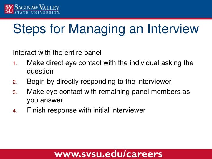 Steps for Managing an Interview
