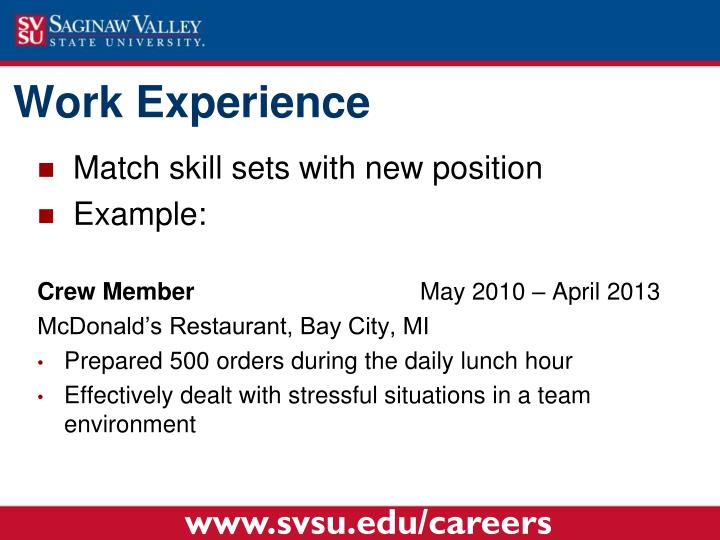 Match skill sets with new position