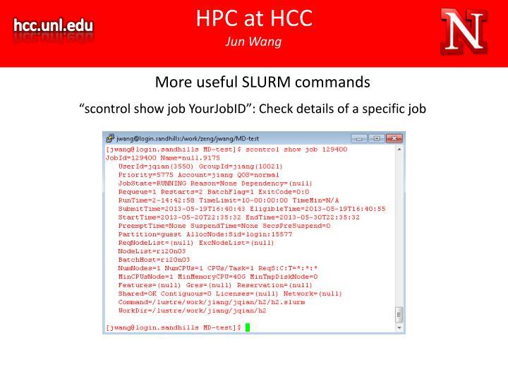 HPC at HCC