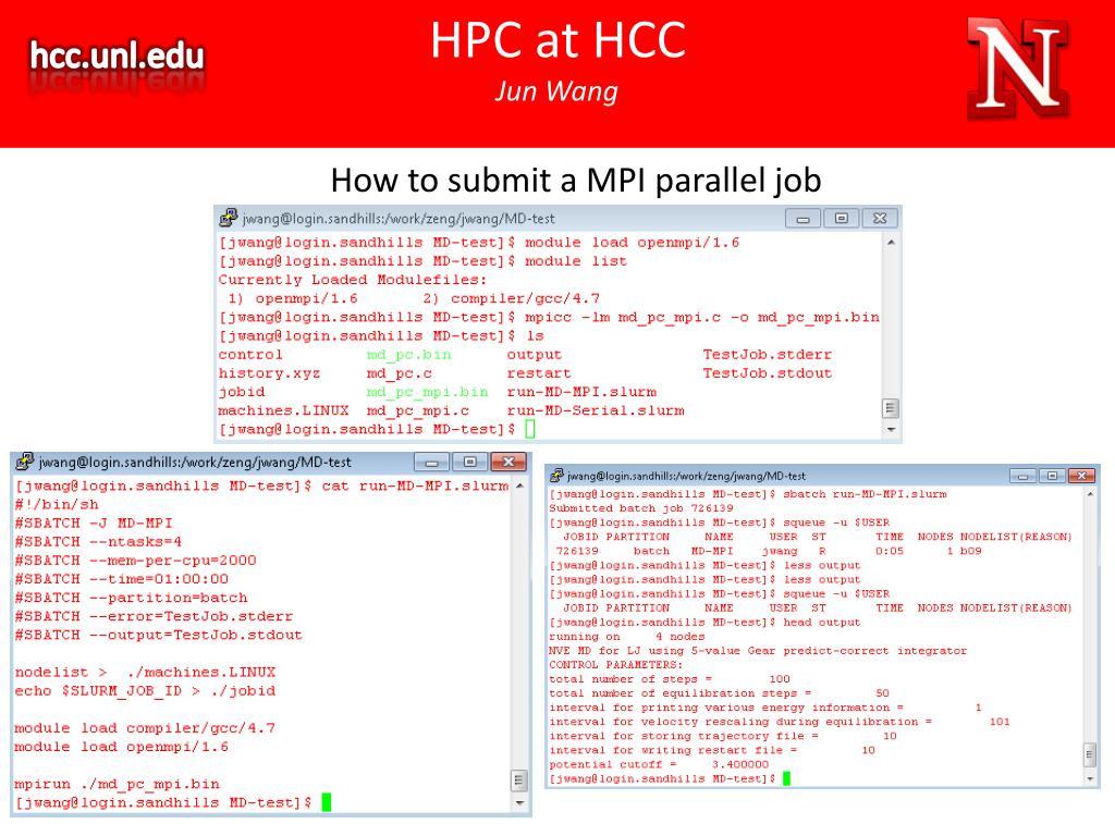 PPT - HPC at HCC Jun Wang PowerPoint Presentation - ID:1611391