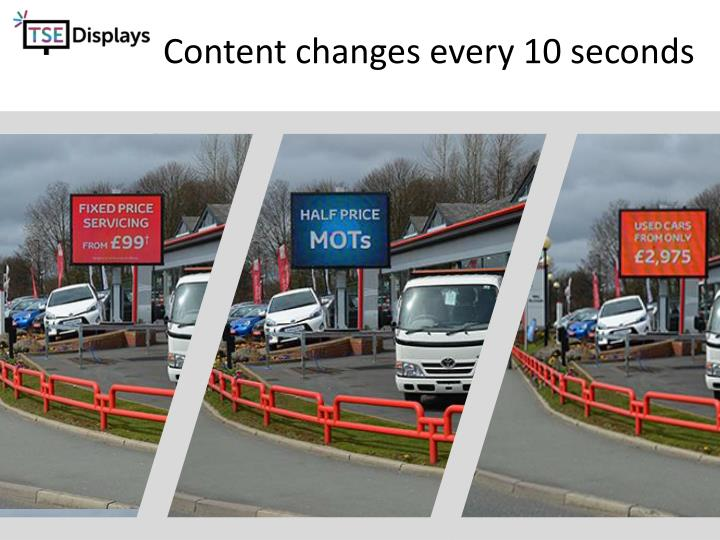 Content changes every 10 seconds