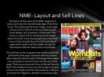 nme layout and sell lines