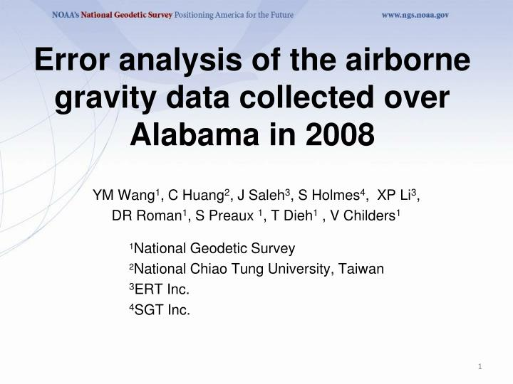 error analysis of the airborne gravity data collected over alabama in 2008 n.