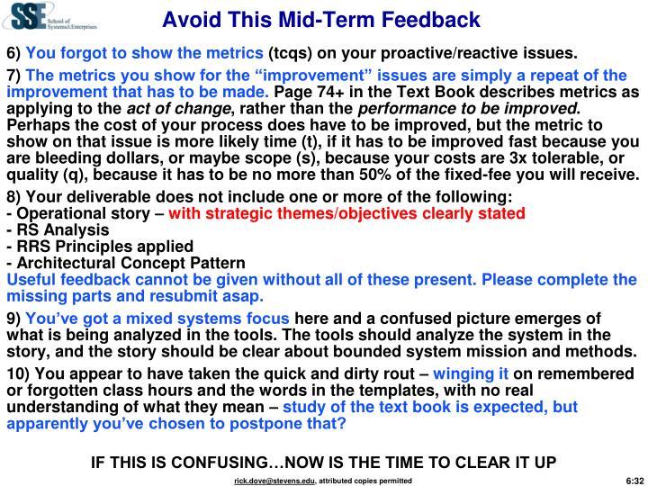 Avoid This Mid-Term Feedback
