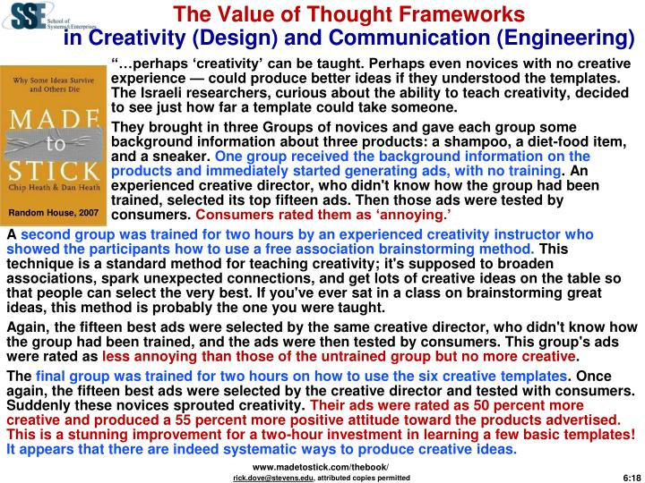 The Value of Thought Frameworks