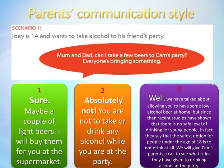Parents communication style