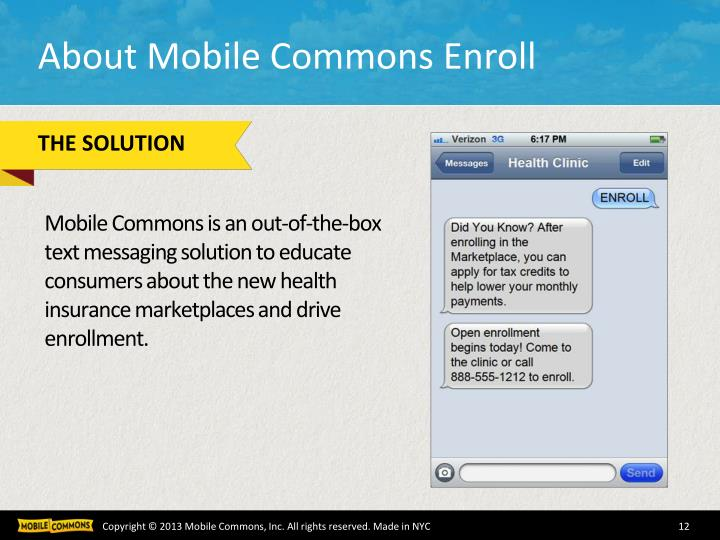 About Mobile Commons Enroll