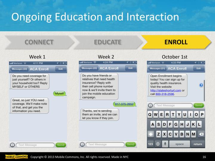 Ongoing Education and Interaction