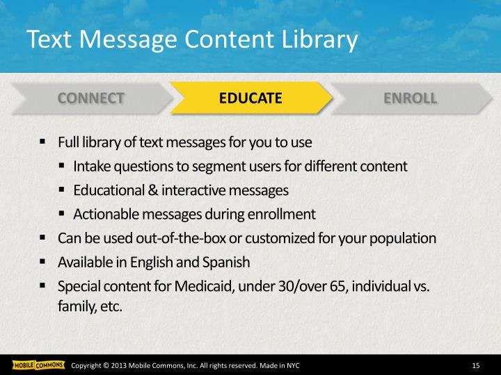 Text Message Content Library