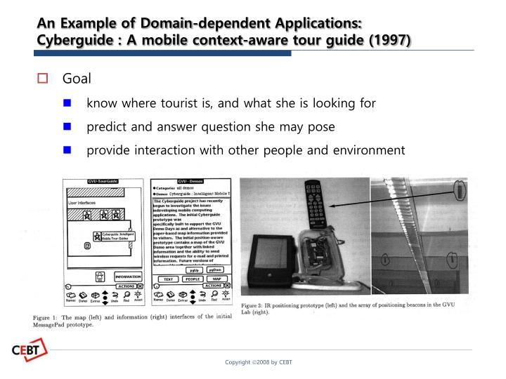 An Example of Domain-dependent Applications: