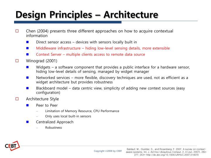 Design Principles – Architecture