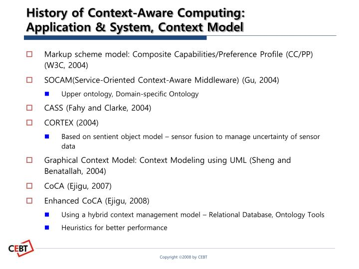 History of Context-Aware Computing: