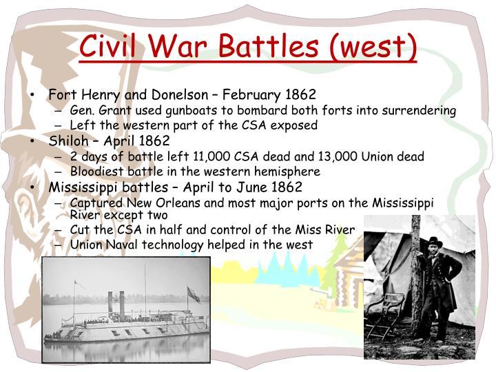 Civil War Battles (west)