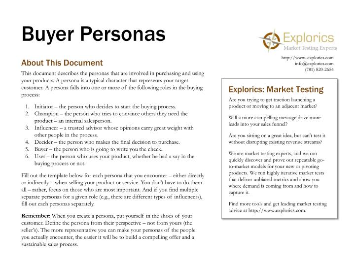 buyer personas n.