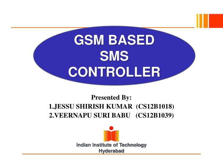 gsm based sms controller n.