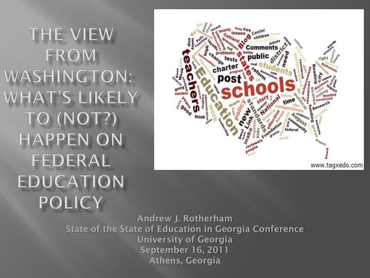 the view from washington what s likely to not happen on federal education policy n.