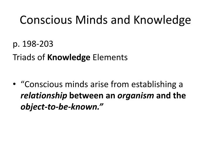 Conscious Minds and Knowledge