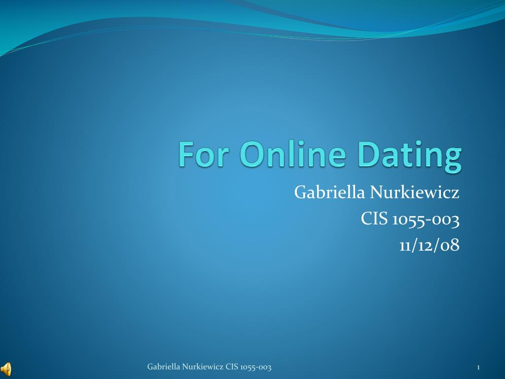 powerpoint presentation on online dating dating carnival