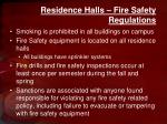 residence halls fire safety regulations