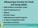 albuquerque services for youth and young adults