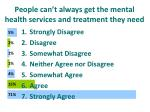 people can t always get the mental health services and treatment they need