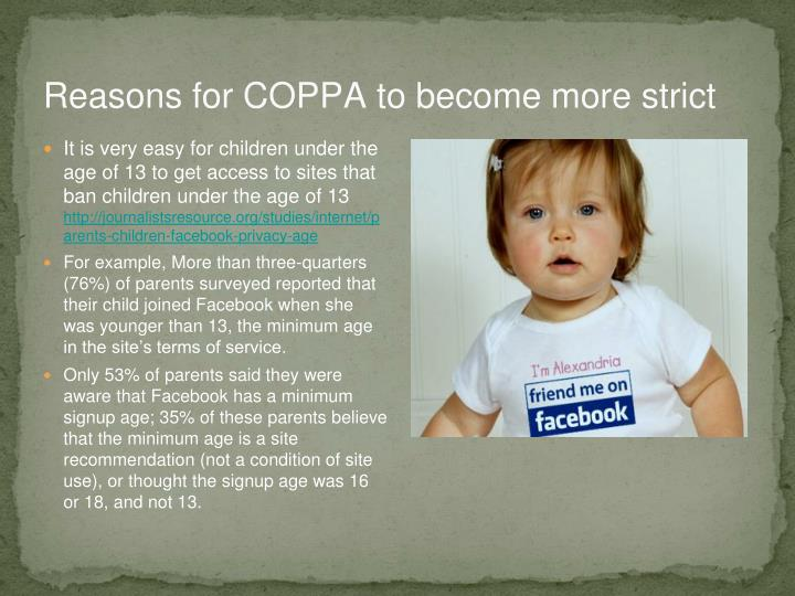Reasons for COPPA to become more strict