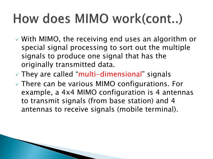 How does MIMO work(cont..)