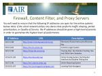 firewall content filter and proxy servers