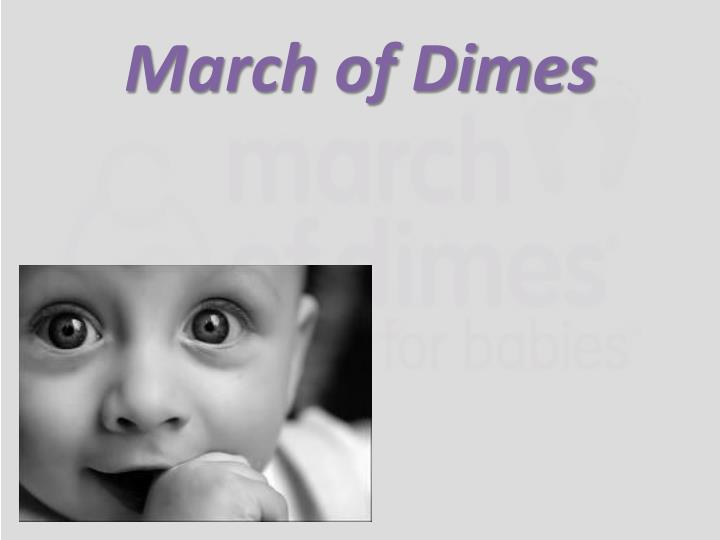 march of dimes n.