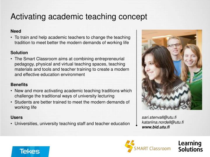 Activating academic teaching concept