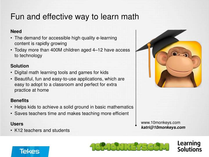 Fun and effective way to learn math