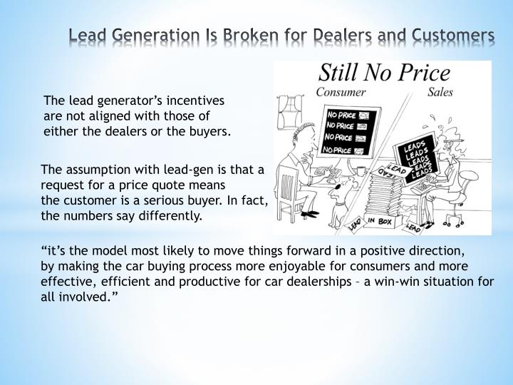 Lead Generation Is Broken for Dealers and Customers