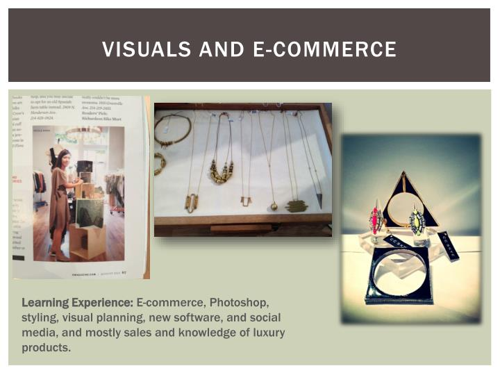 Visuals and e-commerce