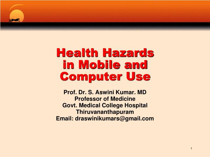 health hazards in mobile and computer use n.