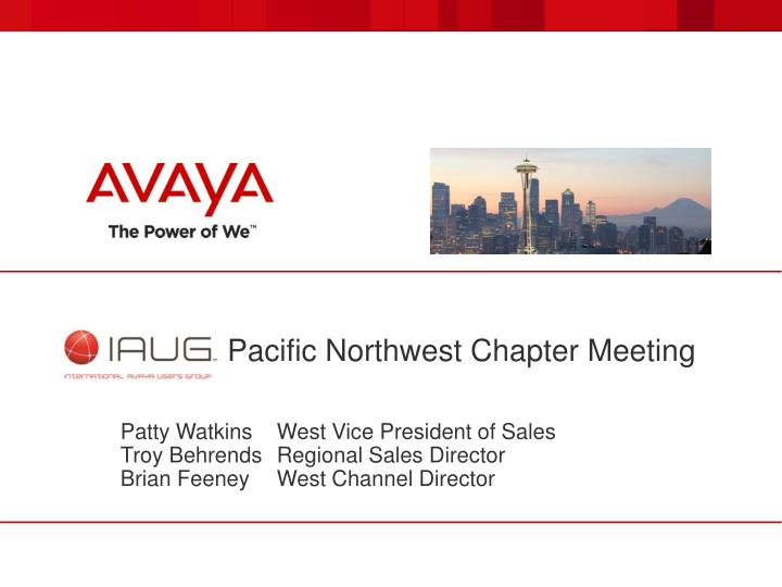 IAUG Pacific Northwest Chapter Meeting