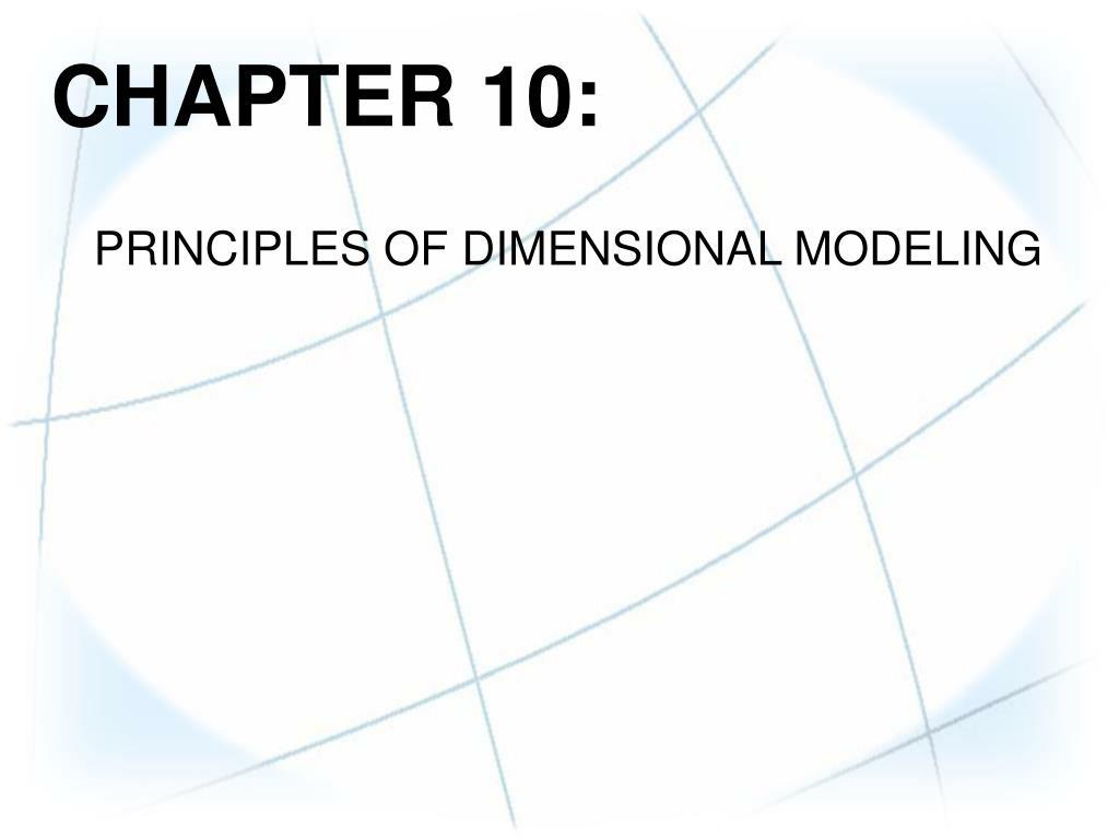 Dimensional modeling principles