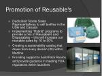 promotion of reusable s