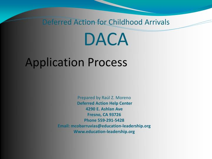 Ppt deferred action for childhood arrivals daca powerpoint deferred action for childhood arrivalsdaca yelopaper Choice Image