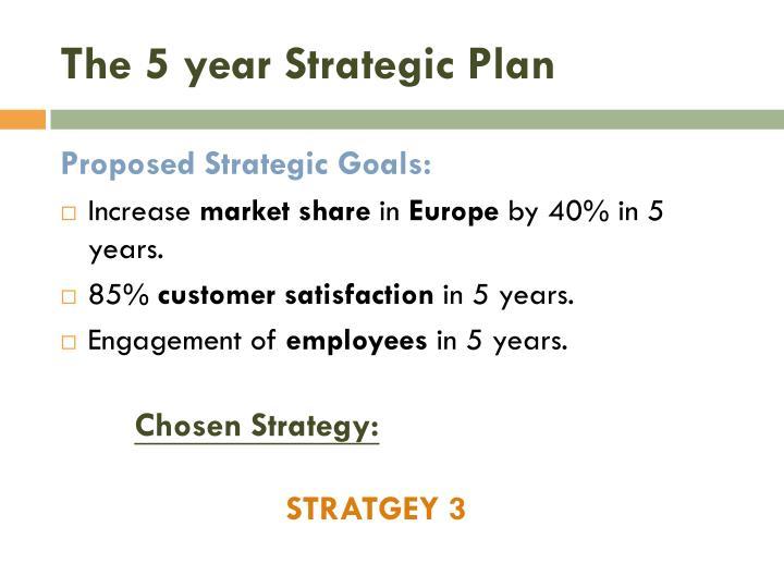 The 5 year Strategic Plan